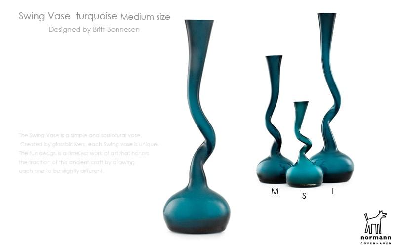 Swing Vase,スウィングベース,ターコイズ,normann COPENHAGEN,ノーマンコペンハーゲン,北欧インテリア,北欧雑貨,デザイナーズインテリア,花瓶,フラワーベース