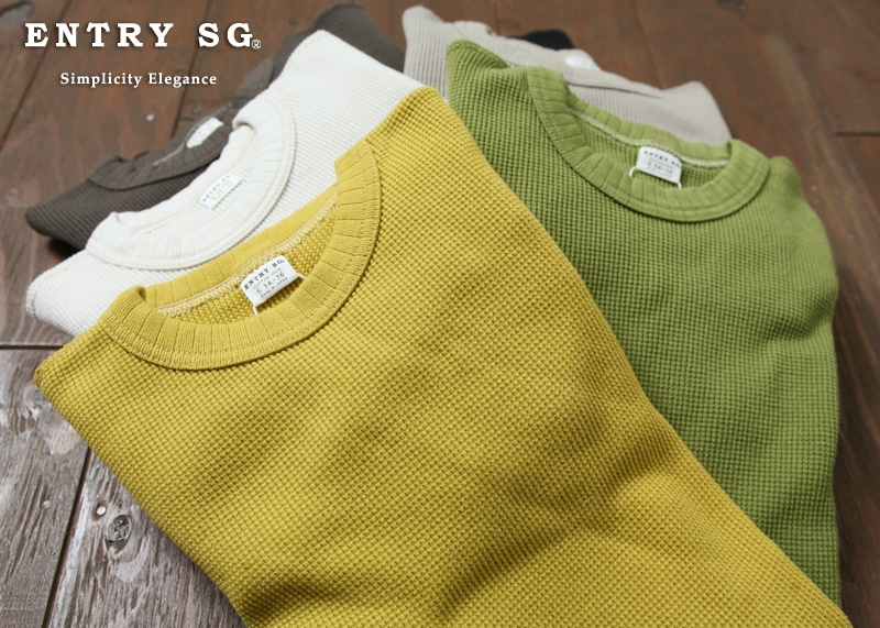 ENTRY SG ワッフルロングスリーブTシャツ [FLUX]