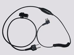 スポーツタックイヤーマフ用 無線機通信用接続ケーブル PTTスイッチ/マイク付 TAMT06 PELTOR製 【防音/遮音】