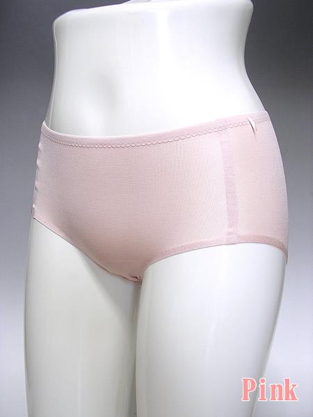 シルク無縫製ショーツピンク