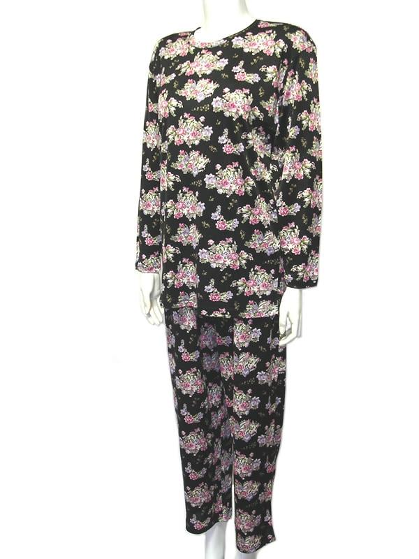 シルクニットパジャマ婦人用巾着付き