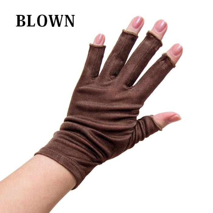 シルク高級手袋(指先開き)