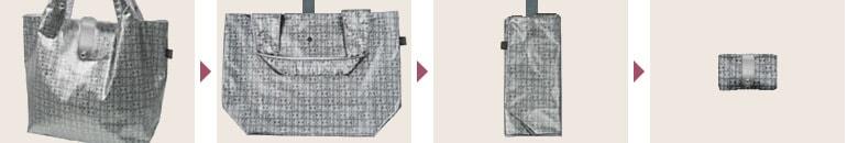 折り畳み式携帯バッグ キキ2 ネオラビパック「約20�の荷物にも耐える、エコバッグ」