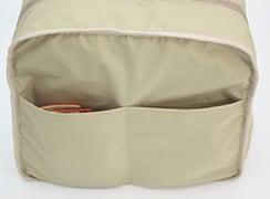 内オープンポケットは整理に便利※写真はバッグを裏返して解りやすくしています
