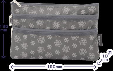 NV151 2段ポケットポーチ サイズ