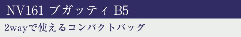 2wayで使えるコンパクトバッグ NV161 ブガッティB5