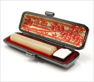 牛角(淡柄)本トカゲケース 10.5mm丸