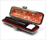 本黒水牛(芯持)本トカゲケース 12.0mm丸