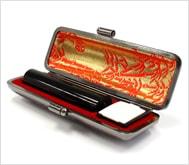 本黒水牛(芯持)本トカゲケース 13.5mm丸
