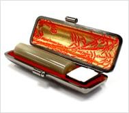 牛角(淡柄)本トカゲケース 16.5mm丸