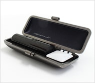 本黒水牛(芯持)クロムサインケース 16.5mm丸