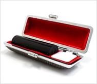 本黒水牛(芯持)カラーモミケース 18.0mm丸