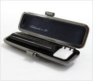 本黒水牛(芯持)クロムサインケース 10.5mm丸