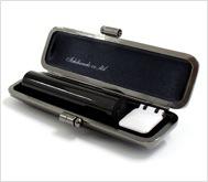 本黒水牛(芯持)クロムサインケース 12.0mm丸