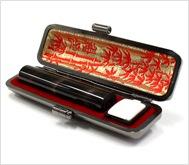 本黒水牛(染無)本トカゲケース 12.0mm丸