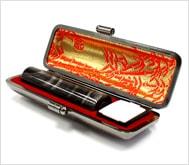本黒水牛(染無)本トカゲケース 13.5mm丸