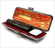 本黒水牛(染無)本トカゲケース 15.0mm丸