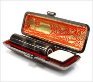 本黒水牛(染無)本トカゲケース 16.5mm丸