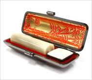牛角(純白)本トカゲケース 16.5mm丸