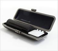 本黒水牛(芯持)クロムサインケース 18.0mm丸
