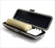 牛角(純白)クロムサインケース 18.0mm丸