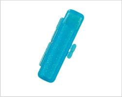 スケルトンラメケース ブルー10.5mm〜12mm丸
