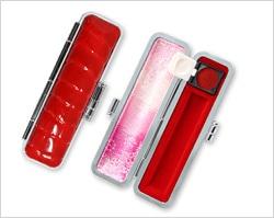 レインボーシャイングクロコケース赤色10.5mm〜12mm丸