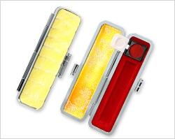 レインボーシャイングクロコケース黄色10.5mm〜12mm丸