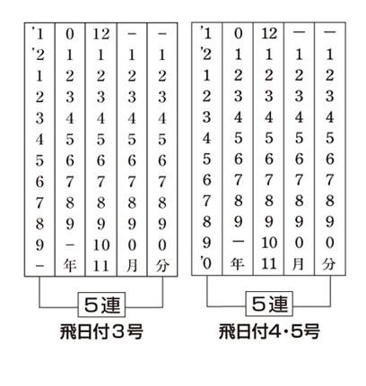 飛日付(明朝体)