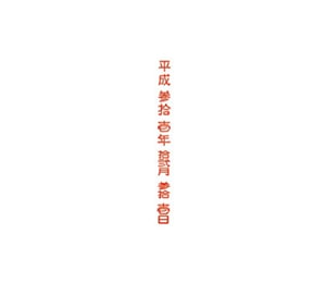 和文日付(ゴシック体)タテ5号