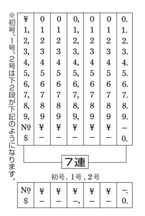 金銭用(明朝体)