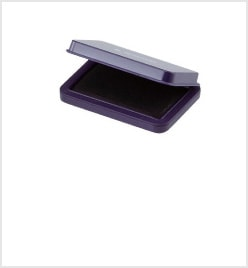 小形シヤチハタ速乾スタンプ台 紫色