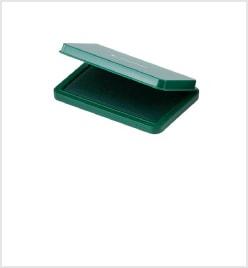 中形シヤチハタ速乾スタンプ台 緑色
