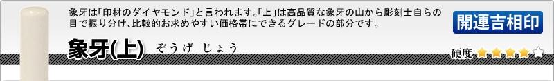 会社印2本セット(実印+銀行印)【開運吉相印】象牙(上)