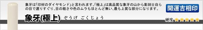 法人用-実印(代表者登録印) 象牙(極上)【開運吉相印】