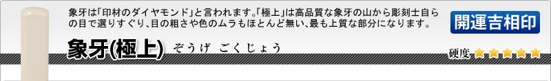 会社印2本セット(実印+角印)【開運吉相印】本象牙(極上)