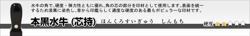 法人用-角印 本黒水牛(芯持)