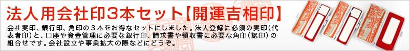 法人用会社印3本セット【開運吉相印】