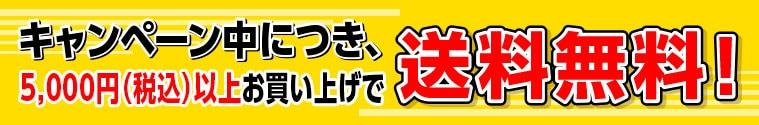 キャンペーン中につき、5,000円(税込)以上お買い上げで送料無料!
