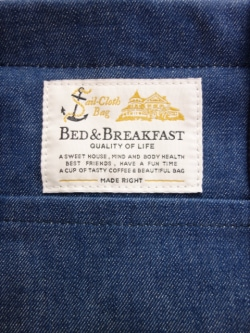 【定番 Standard Line】BED&BREAKFAST【B&B_0020】Sail Cloth Bag DENIMセイルクロスバッグデニム<中> 8041700116