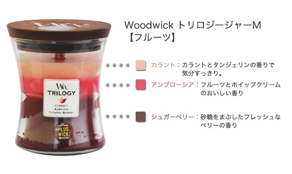 Woodwick トリロジーM フルーツ