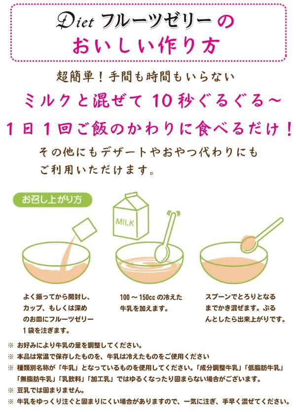 ダイエットフルーツゼリーのおいしい作り方