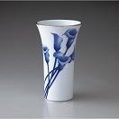 有田焼 香蘭社 染付カラー 花瓶 959-NH9