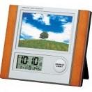 フォトフレーム電波時計 (お名入れ可) C-8297