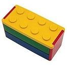 プライムナカムラ ロック式ブロック2段弁当箱 YE