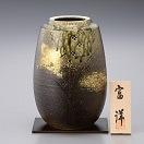 信楽焼 8号花瓶 森の都 sha-6
