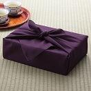 彩美 飾り結び(帯結び) ふろしき・小ふろしきセット 紫 510
