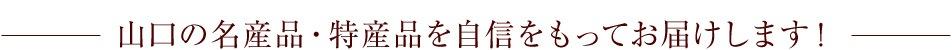 山口県のご当地グルメや名産品を自信をもってお届けします!