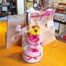 アリスカフェ デコレーションおむつケーキ 2段 女の子用