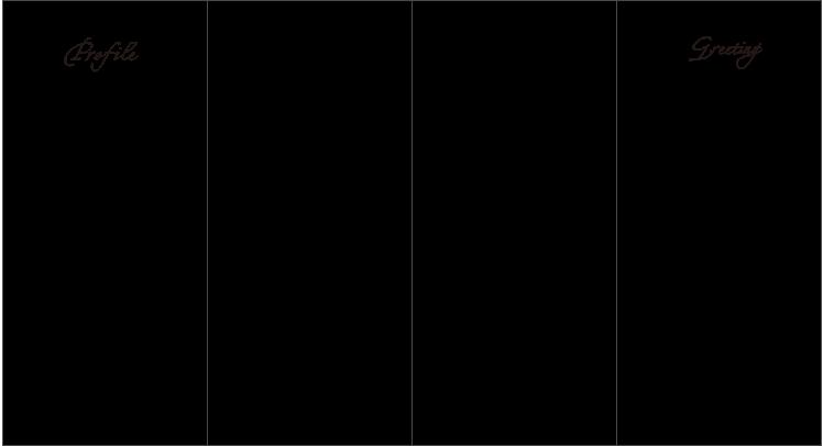 席次表 観音折り(プロフィール&メッセージ)(表)